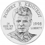 1998 Robert Francis Kennedy Commemorative Silver One Dollar Uncirculated Obverse
