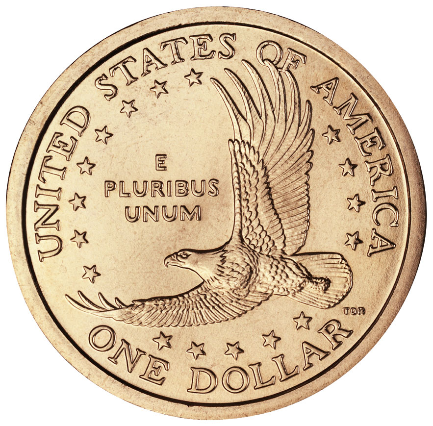 1999-2006 Sacagawea Golden Dollar Uncirculated Reverse