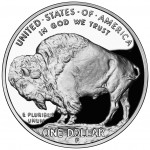 2001 American Buffalo Commemorative Silver One Dollar Proof Reverse