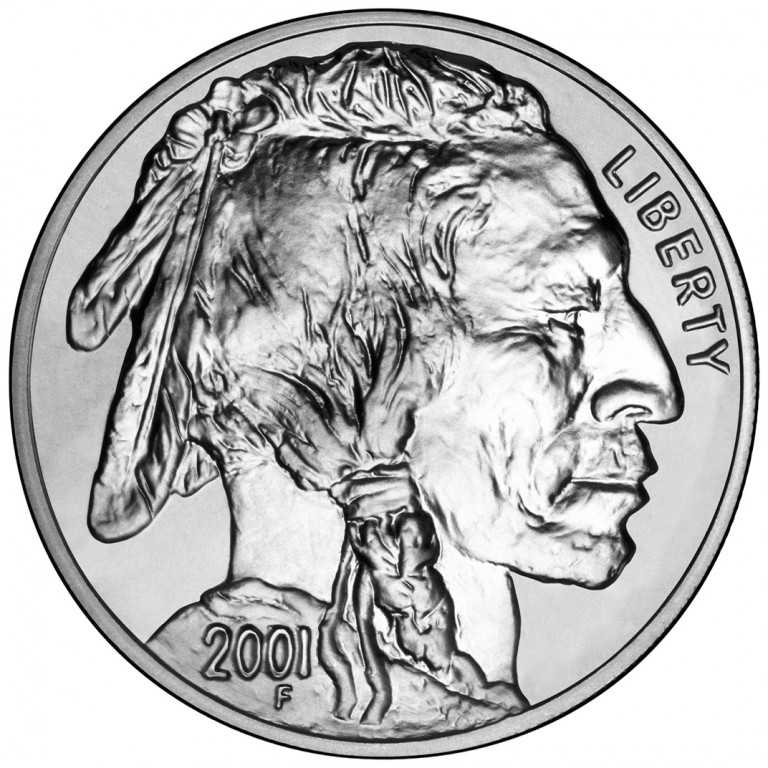 2001 American Buffalo Commemorative Silver One Dollar Uncirculated Obverse