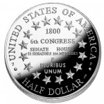 2001 United States Capitol Visitor Center Commemorative Clad Half Dollar Proof Reverse