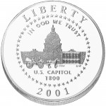 2001 United States Capitol Visitor Center Commemorative Clad Half Dollar Uncirculated Obverse