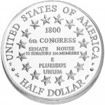 2001 United States Capitol Visitor Center Commemorative Clad Half Dollar Uncirculated Reverse