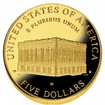 2001 United States Capitol Visitor Center Commemorative Gold Five Dollar Proof Reverse