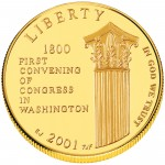 2001 United States Capitol Visitor Center Commemorative Gold Uncirculated Obverse