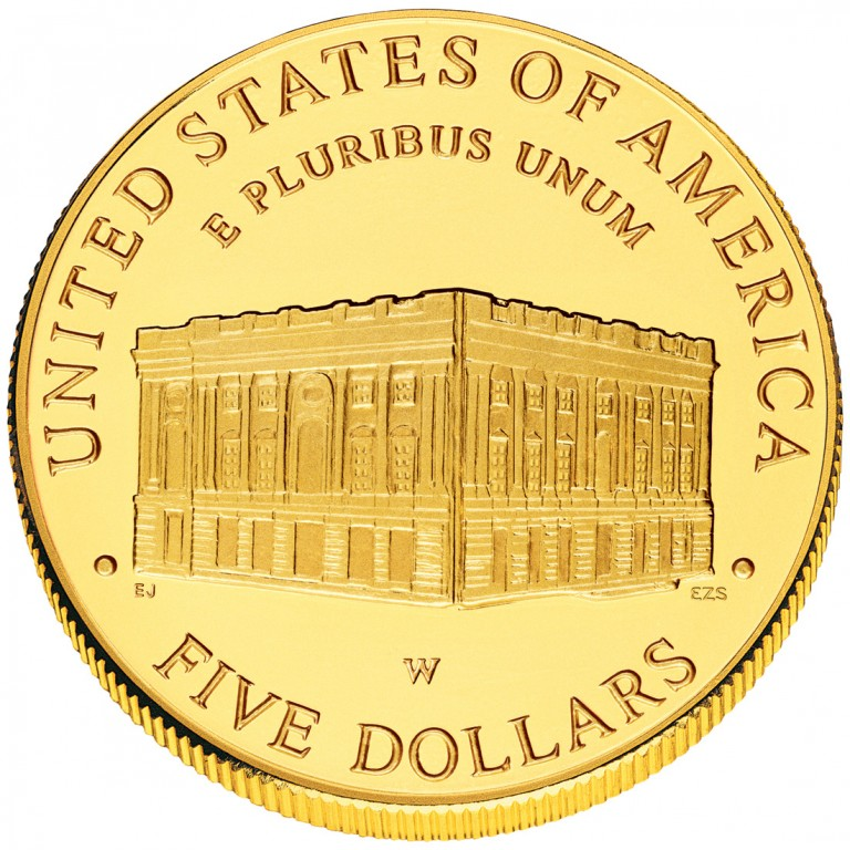 2001 United States Capitol Visitor Center Commemorative Gold Uncirculated Reverse