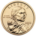 2002 Native American One Dollar Uncirculated Obverse