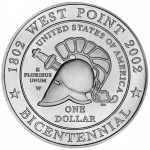 2002 West Point Bicentennial Commemorative Silver One Dollar Uncirculated Reverse