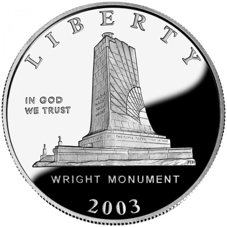 2003 First Flight Centennial Commemorative Clad Half Dollar Proof Obverse