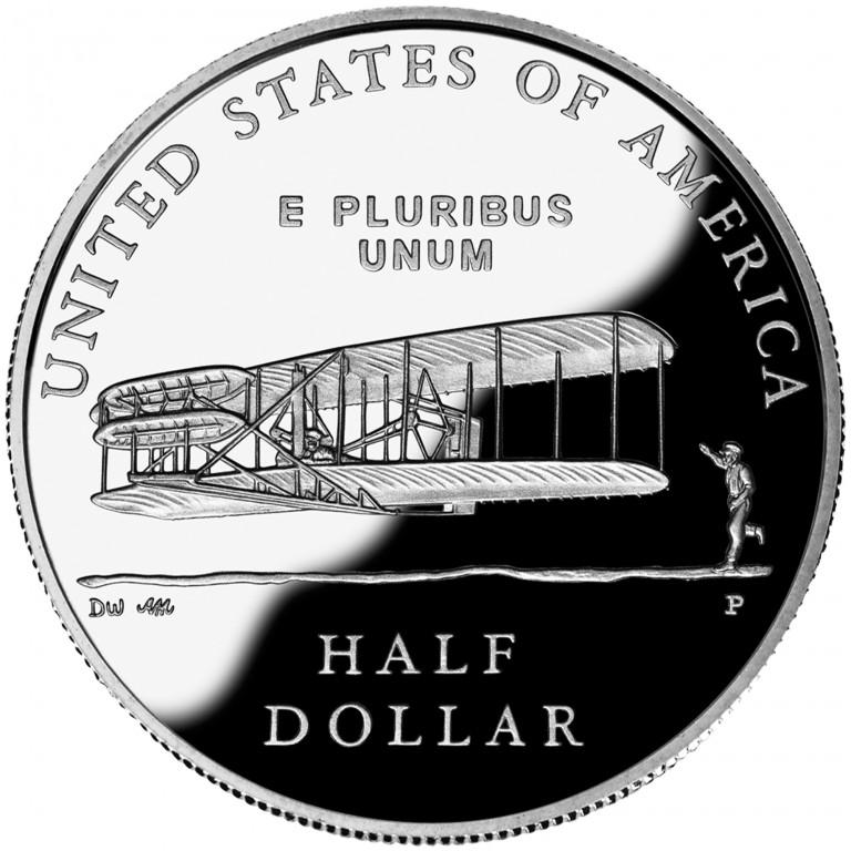 2003 First Flight Centennial Commemorative Clad Half Dollar Proof Reverse