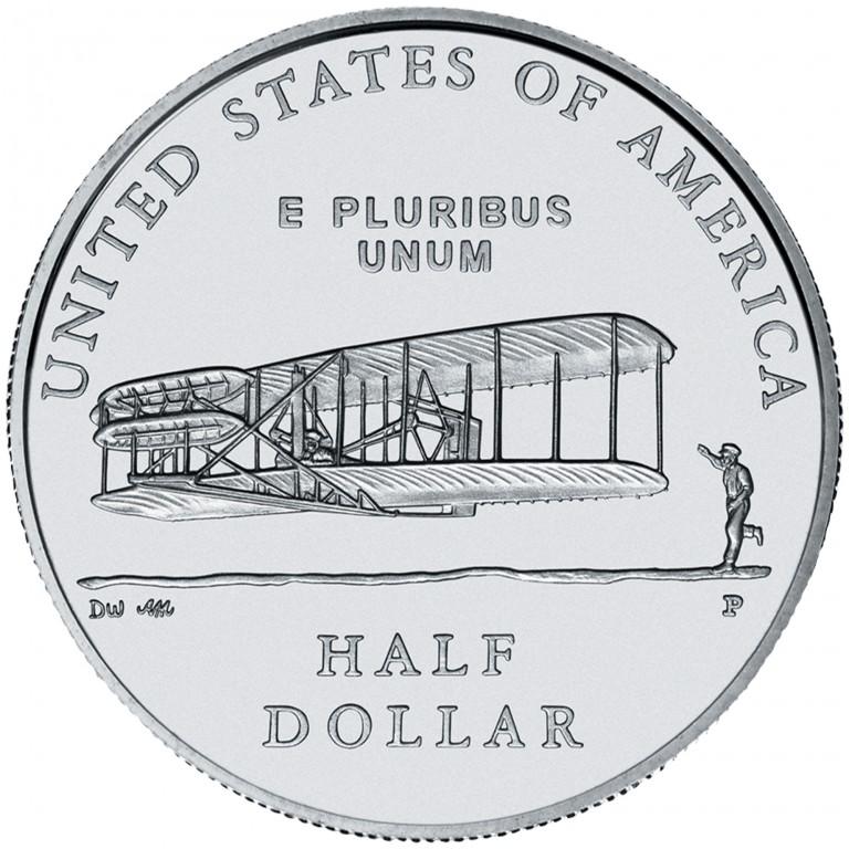 2003 First Flight Centennial Commemorative Clad Half Dollar Uncirculated Reverse