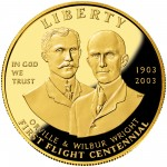 2003 First Flight Centennial Commemorative Gold Ten Dollar Proof Obverse