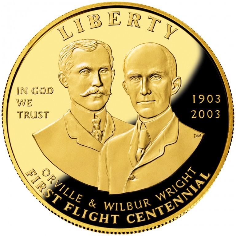 2003 First Flight Centennial Commemorative Gold Ten Dollar Proof Obverse