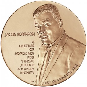2003 Jackie Robinson Bronze Medal Obverse