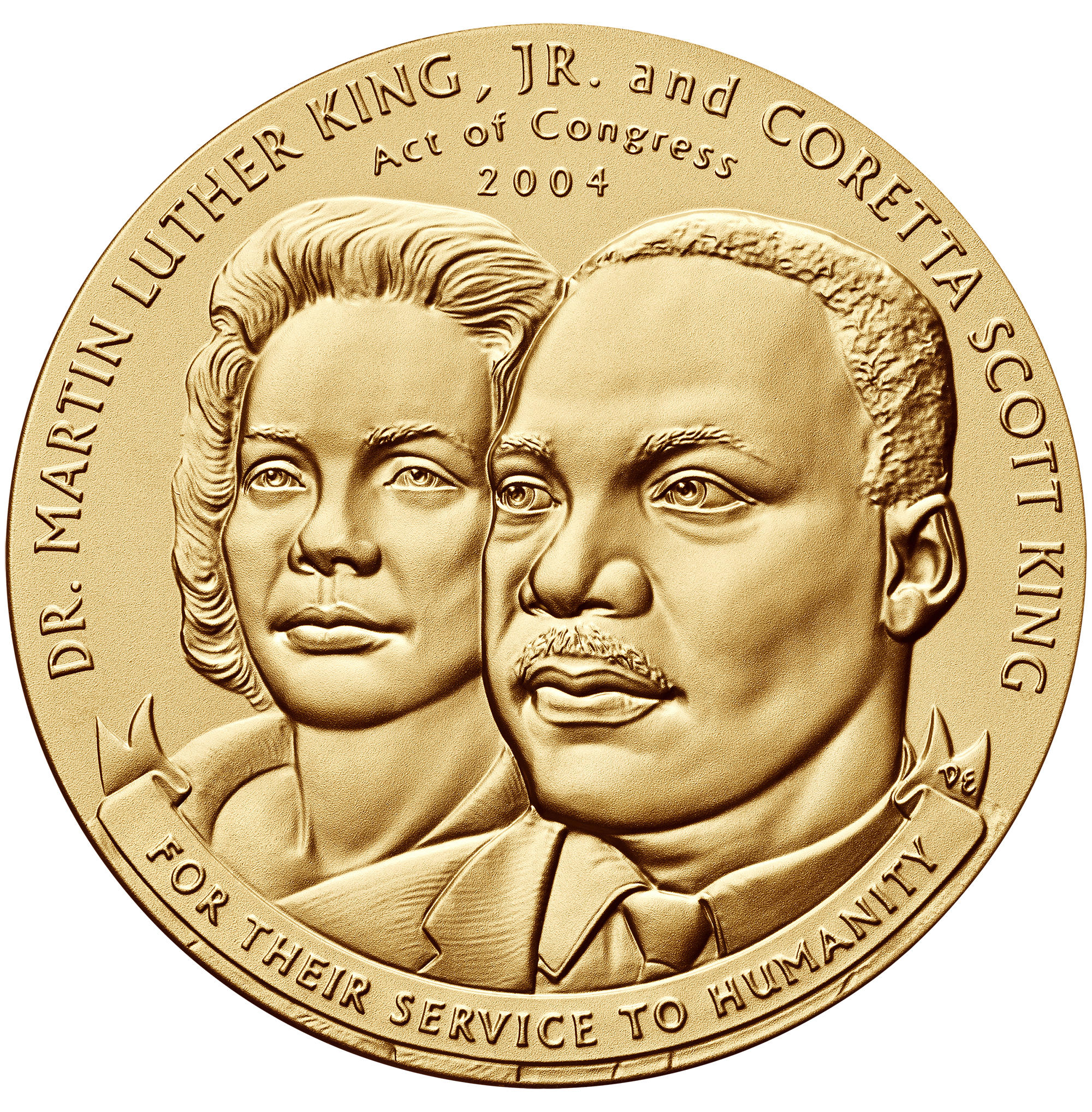 2004 Doctor Martin Luther And Coretta Scott King Bronze Medal Obverse