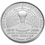 2004 Thomas Edison Commemorative Silver One Dollar Uncirculated Reverse
