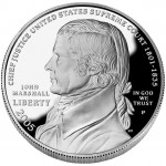 2005 Chief Justice John Marshall Commemorative Silver One Dollar Proof Obverse