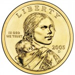 2005 Native American One Dollar Uncirculated Obverse