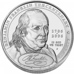 2006 Benjamin Franklin Founding Father Commemorative Silver One Dollar Uncirculated Obverse
