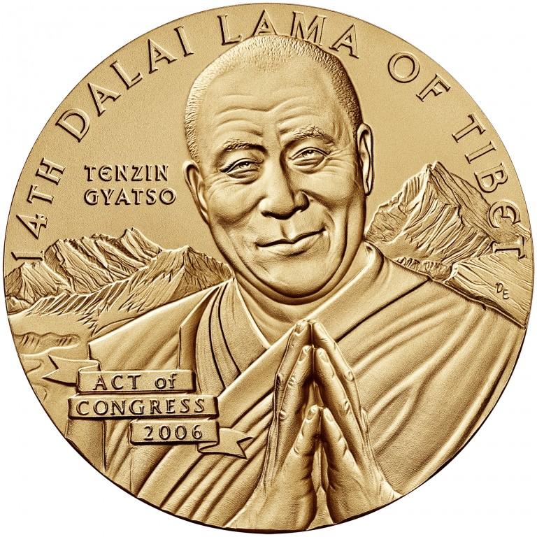 2006 Dalai Lama Bronze Medal Three Inch Obverse