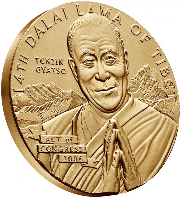 2006 Dalai Lama Bronze Medal Three Inch Obverse Angle