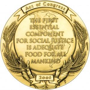 2006 Norman Borlaug Bronze Medal Reverse