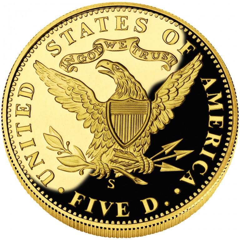 2006 San Francisco Mint Centennial Commemorative Gold Five Dollar Proof Reverse