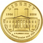 2006 San Francisco Mint Centennial Commemorative Gold Five Dollar Uncirculated Obverse