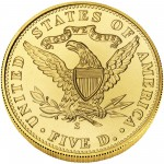 2006 San Francisco Mint Centennial Commemorative Gold Five Dollar Uncirculated Reverse