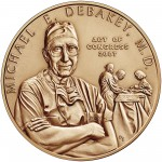 2007 Doctor Michael E. Debakey Bronze Medal One And One Half Inch Obverse