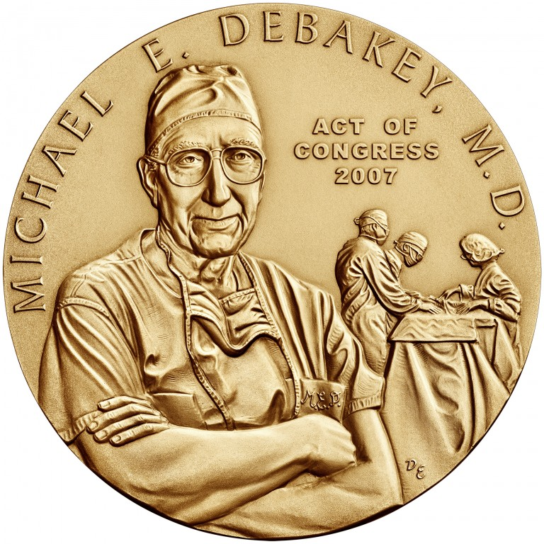 2007 Doctor Michael E. Debakey Bronze Medal Three Inch Obverse