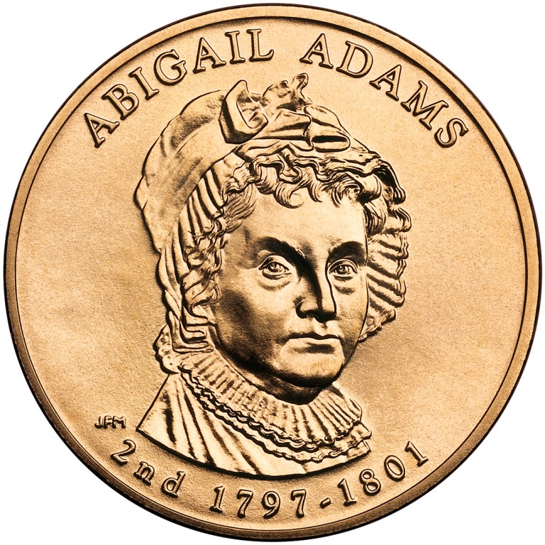 Abigail Adams First Spouse Bronze Medal Obverse