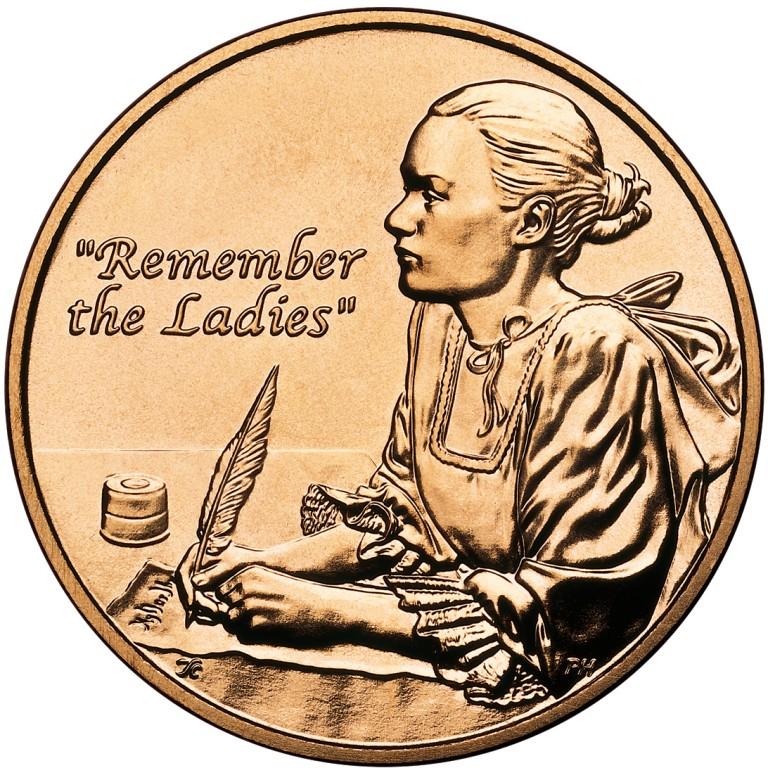 Abigail Adams First Spouse Bronze Medal Reverse