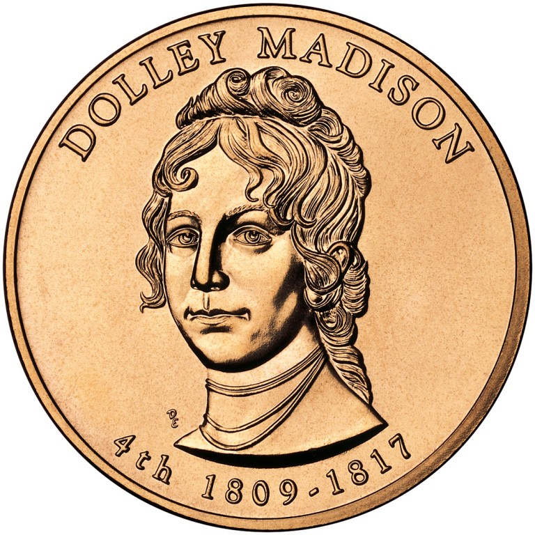 Dolley Madison First Spouse Bronze Medal Obverse