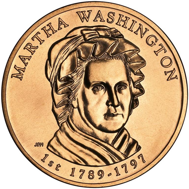Martha Washington First Spouse Bronze Medal Obverse