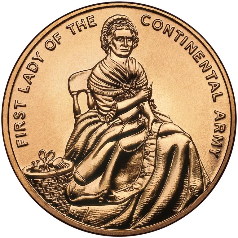 Martha Washington First Spouse Bronze Medal Reverse