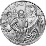 2007 Jamestown Quadricentennial Commemorative Silver One Dollar Uncirculated Obverse