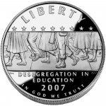 2007 Little Rock Central High School Commemorative Silver One Dollar Proof Obverse