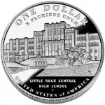 2007 Little Rock Central High School Commemorative Silver One Dollar Proof Reverse