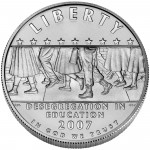 2007 Little Rock Central High School Commemorative Silver One Dollar Uncirculated Obverse