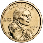 2007 Native American One Dollar Circulated Obverse