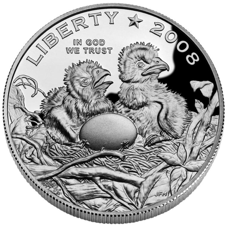 2008 Bald Eagle Commemorative Clad Half Dollar Proof Obverse