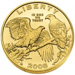 2008 Bald Eagle Commemorative Gold Five Dollar Uncirculated Obverse