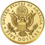 2008 Bald Eagle Commemorative Gold Five Dollar Uncirculated Reverse