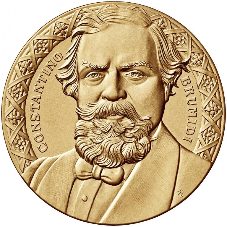 2008 Constantino Brumidi Bronze Three Inch Medal Obverse