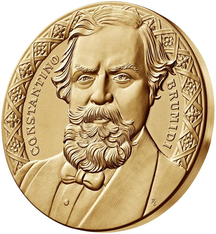 2008 Constantino Brumidi Bronze Three Inch Medal Obverse Angle