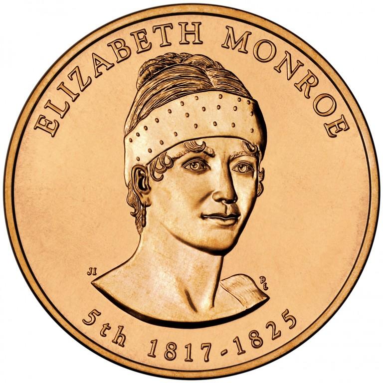 Elizabeth Monroe First Spouse Bronze Medal Obverse