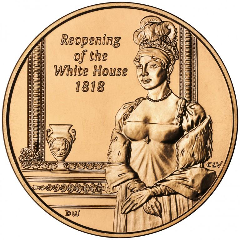 Elizabeth Monroe First Spouse Bronze Medal Reverse
