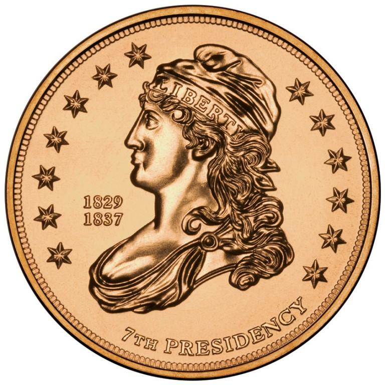 Jackson Liberty First Spouse Bronze Medal Obverse