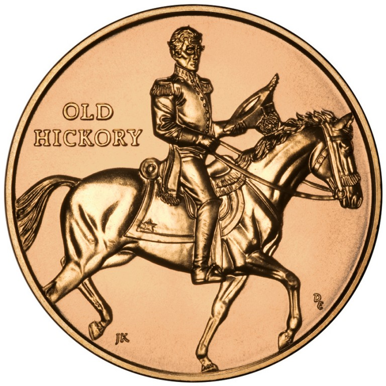 Jackson Liberty First Spouse Bronze Medal Reverse